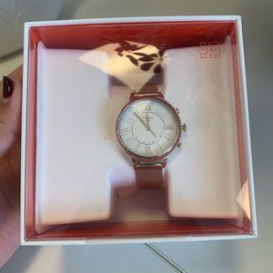 NWT Fossil Jaqueline Q Hybrid Smart Watch in Gold